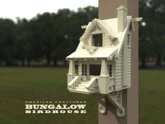 30 3D Printed Objects For Your Pet American Craftsman Bungalow Birdhouse