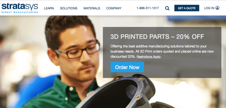 Image of Online 3D Printing Service: Stratasys Direct