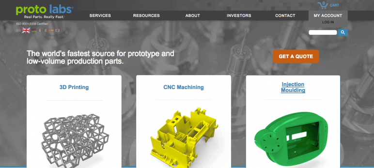 Image of Online 3D Printing Service: Protolabs