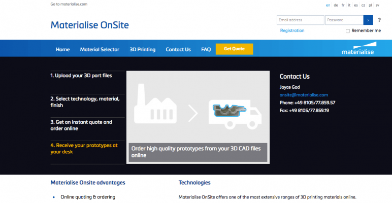 Image of Online 3D Printing Service: Materialise OnSite