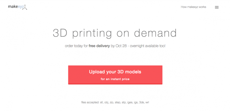 Image of Online 3D Printing Service: MakeXYZ