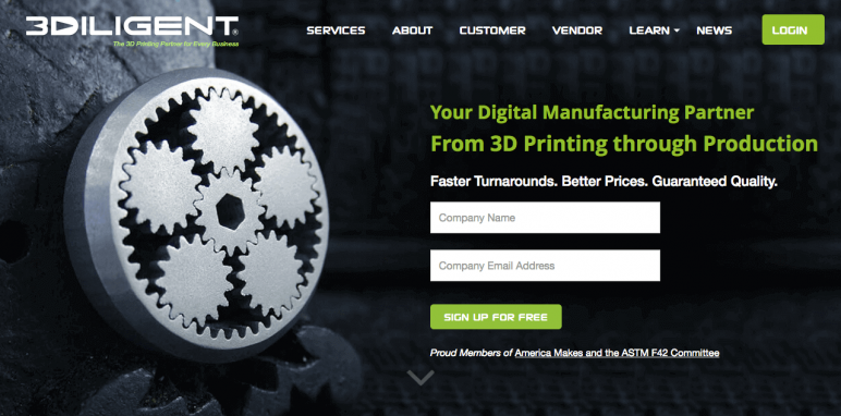Image of Online 3D Printing Service: 3Diligent