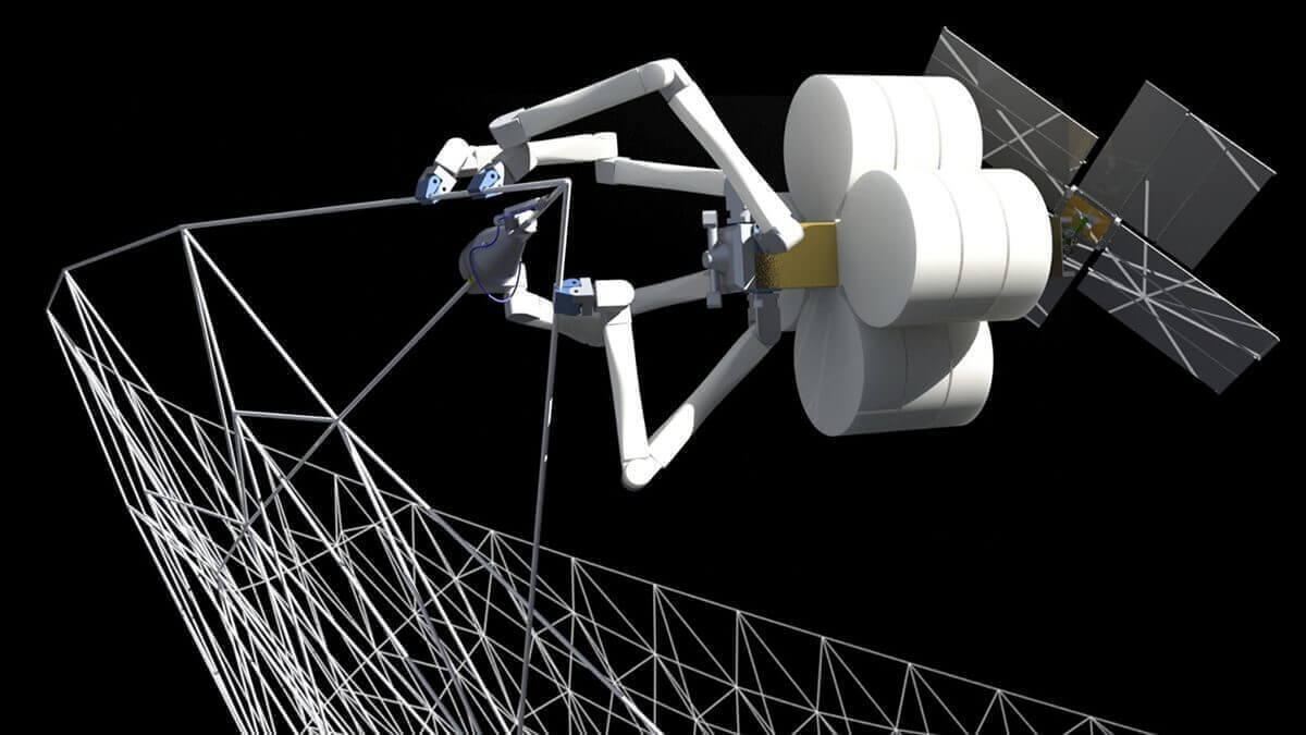 SpiderFab: 3D Printing Robots Construct Structures in Space | All3DP