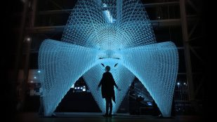 "Featured image of Artificially Intelligent 3D Printer Creates ""Daedalus Pavilion"""