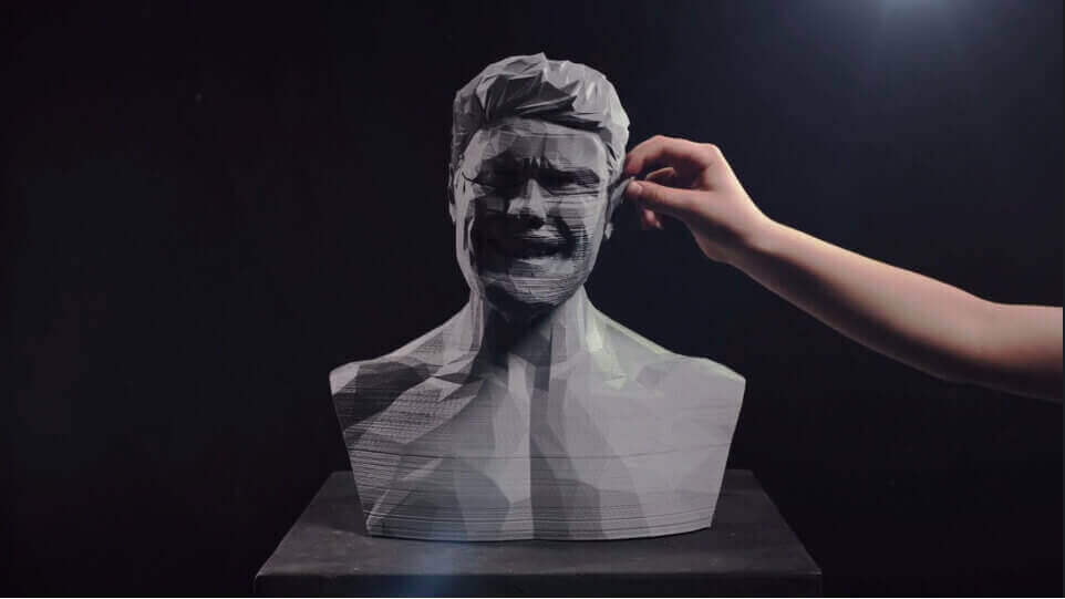 Magnetic: 3D Printed Animated Bust in Dan Sultan Music Video | All3DP