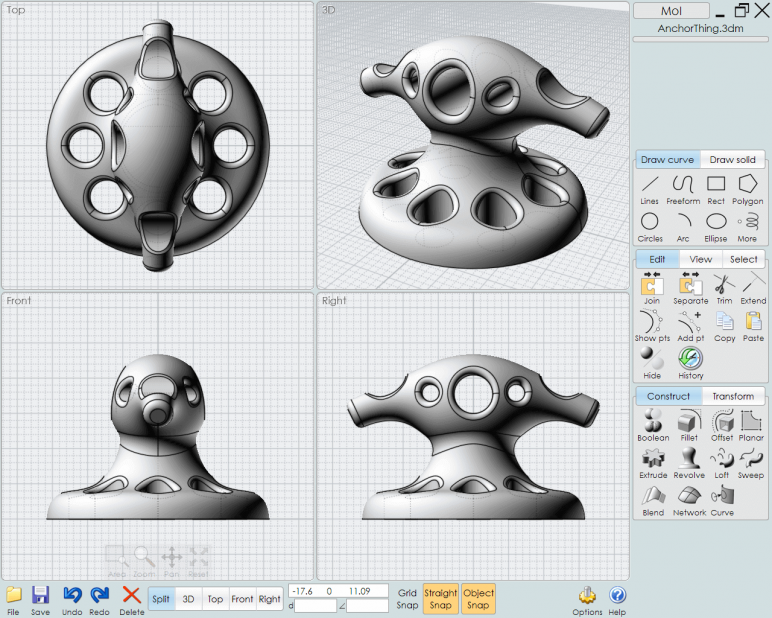 Image of 3D Programm/ 3D-Zeichenprogramm/ 3D-CAD-Freeware & Software / 3D-Modeling-Software: Moment of Inspiration (MoI)