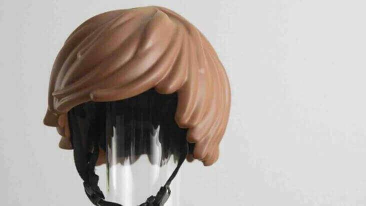 3D Printed Playmobil Hair Bike Helmet Prototype | All3DP
