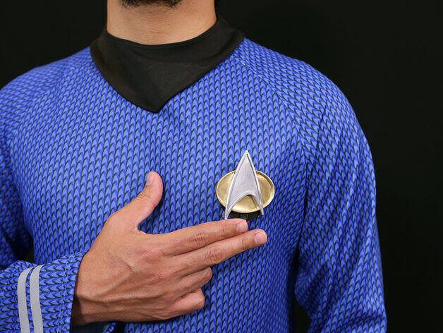 image of star trek 3d models to 3d print combadge