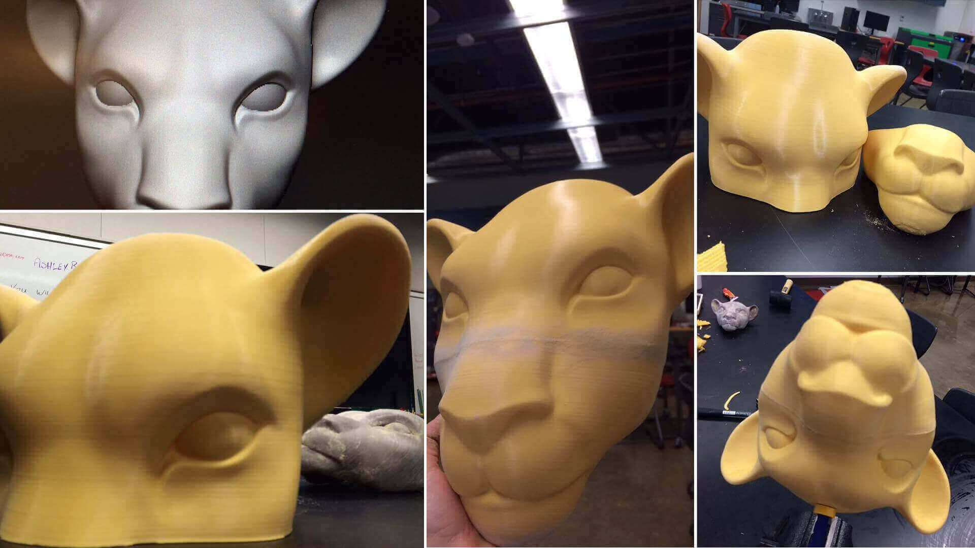 3D Printed Lion King Masks for School Stage Production
