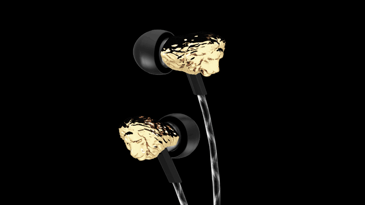 3D Printed Metal Lion Head on V-Moda's New Earbuds | All3DP