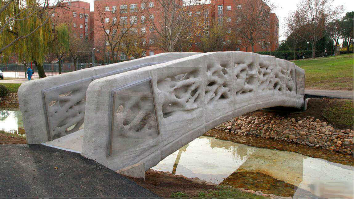 World's First 3D Printed Pedestrian Bridge Completed in Madrid | All3DP