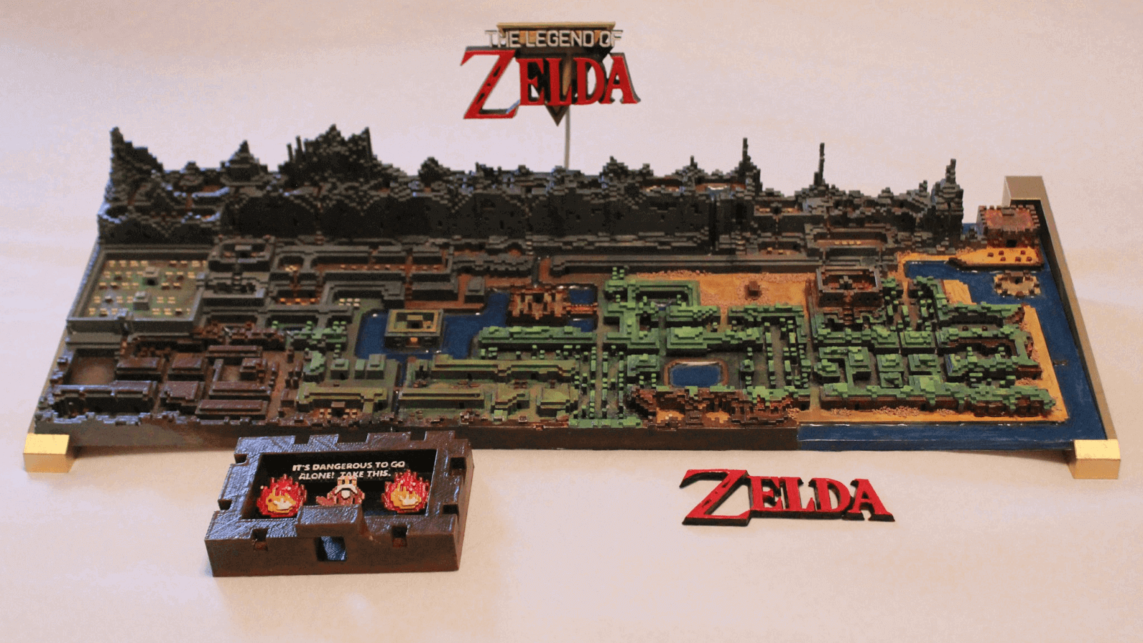 This Stunning 3D Printed Zelda Map Was Made in Minecraft | All3DP