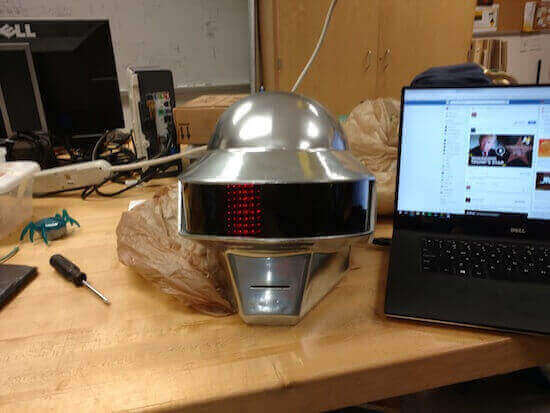 Image of 30 Great Arduino Projects (You Can Make with a 3D Printer): 3D Printed Daft Punk Helmet