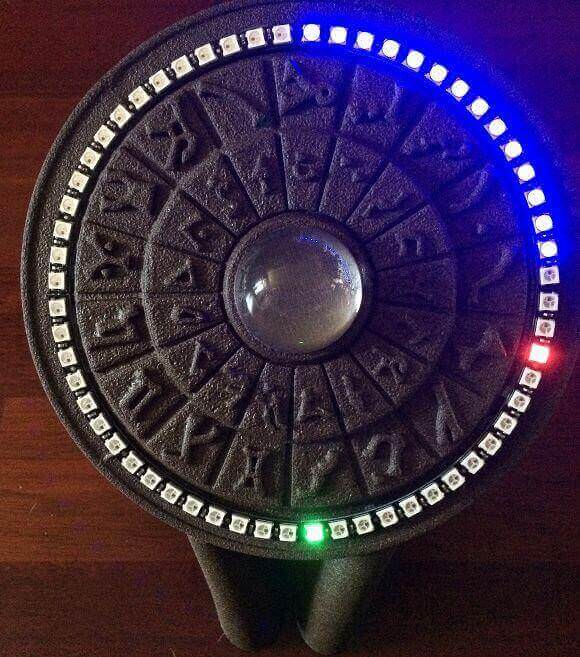 Image of 30 Great Arduino Projects (You Can Make with a 3D Printer): Stargate Inspired 3D Printed Clock