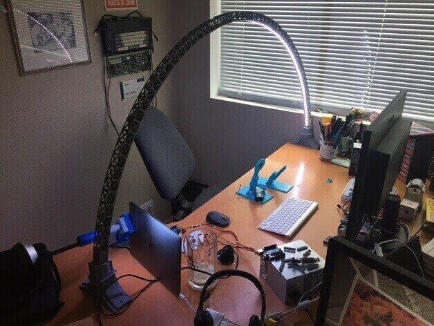 Image of 30 Great Arduino Projects (You Can Make with a 3D Printer): LED Bridge Lamp
