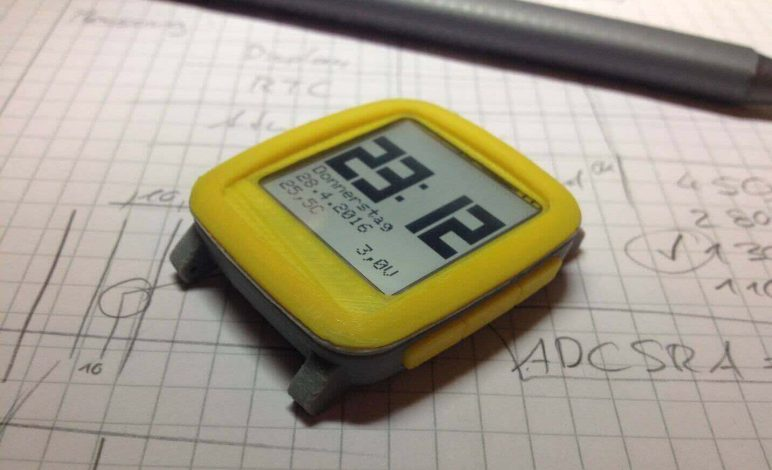 Image of 30 Great Arduino Projects (You Can Make with a 3D Printer): Chronio (Low Power Smartwatch)