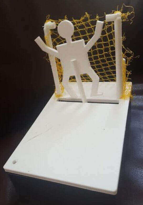 Image of 30 Great Arduino Projects (You Can Make with a 3D Printer): Soccer Penalty Kick Game