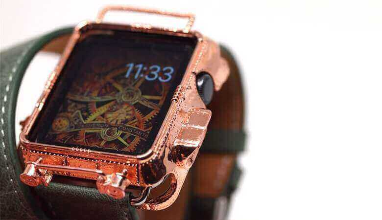low priced 5e20f 67cdf Beautiful 3D Printed Copper Steampunk Apple Watch Cover | All3DP