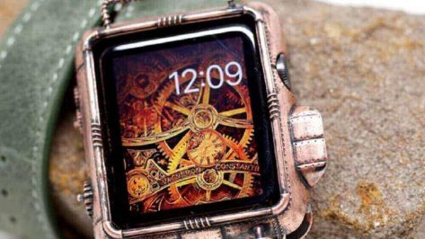 Featured image of Beautiful 3D Printed Copper Steampunk Apple Watch Cover