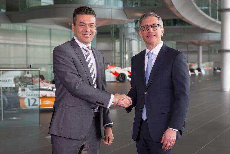 John Cooper, Commercial and Finance Director of McLaren Racing and Ilan Levin, CEO of Stratasys