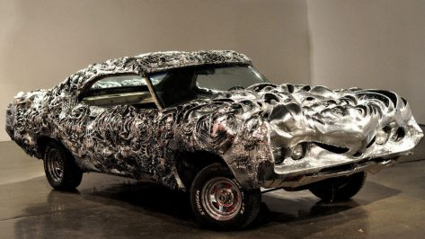 Featured image of 3D Printed Liquid Metal Ford Torino Steals the Spotlight at Arizona Auction
