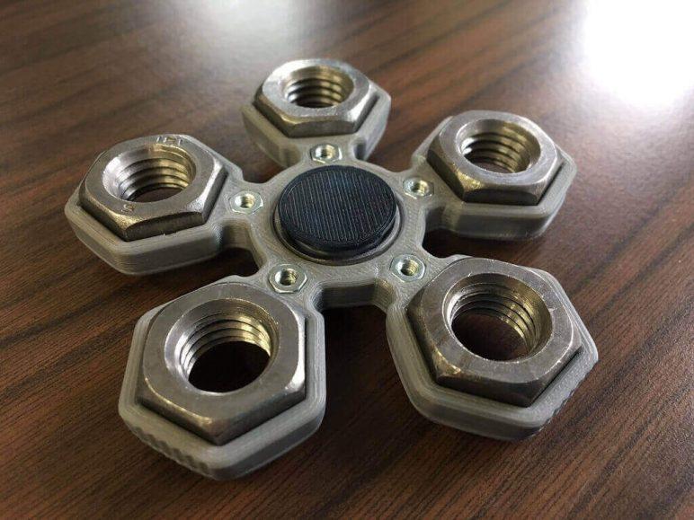 Image of Best 3D Printed Fidget Spinners: Fidget Hand Quintuple Spinner