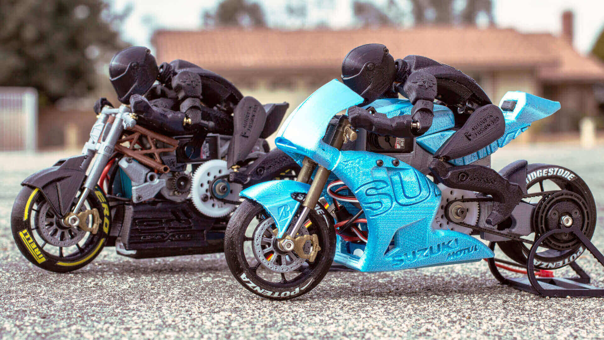 3D Print Your Own Functional RC Motorcycles | All3DP