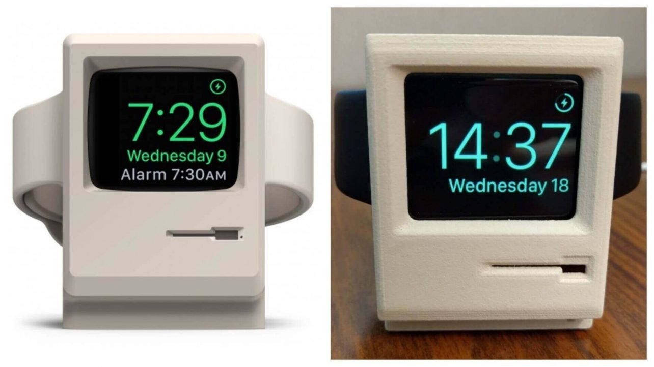 Buy this Classic Mac Stand for Apple Watch (or 3D Print it