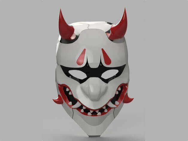 Image of Overwatch 3D Models: Oni Genji Mask