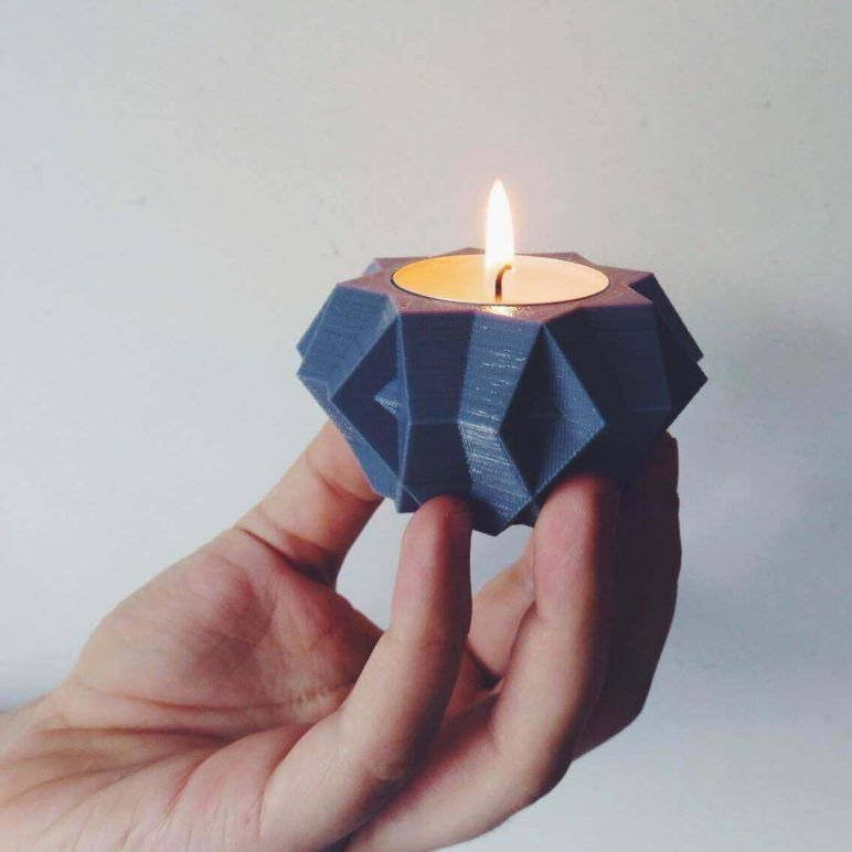 Image of 3D Printing Ideas – 40 Easy Home Decor Things to 3D Print: Tealight Holder