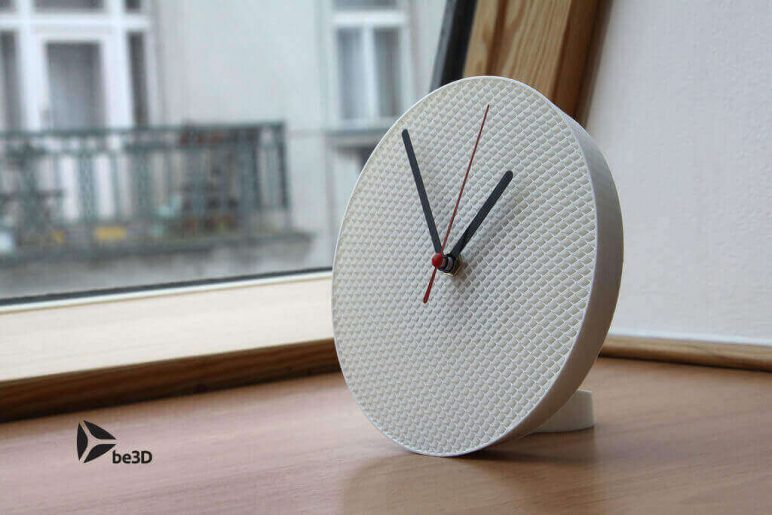 Image of 3D Printing Ideas – 40 Easy Home Decor Things to 3D Print: Structure Clock