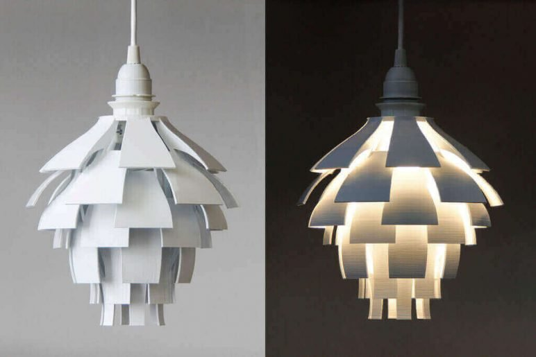 Image of 3D Printing Ideas – 40 Easy Home Decor Things to 3D Print: Artichoke Lamp