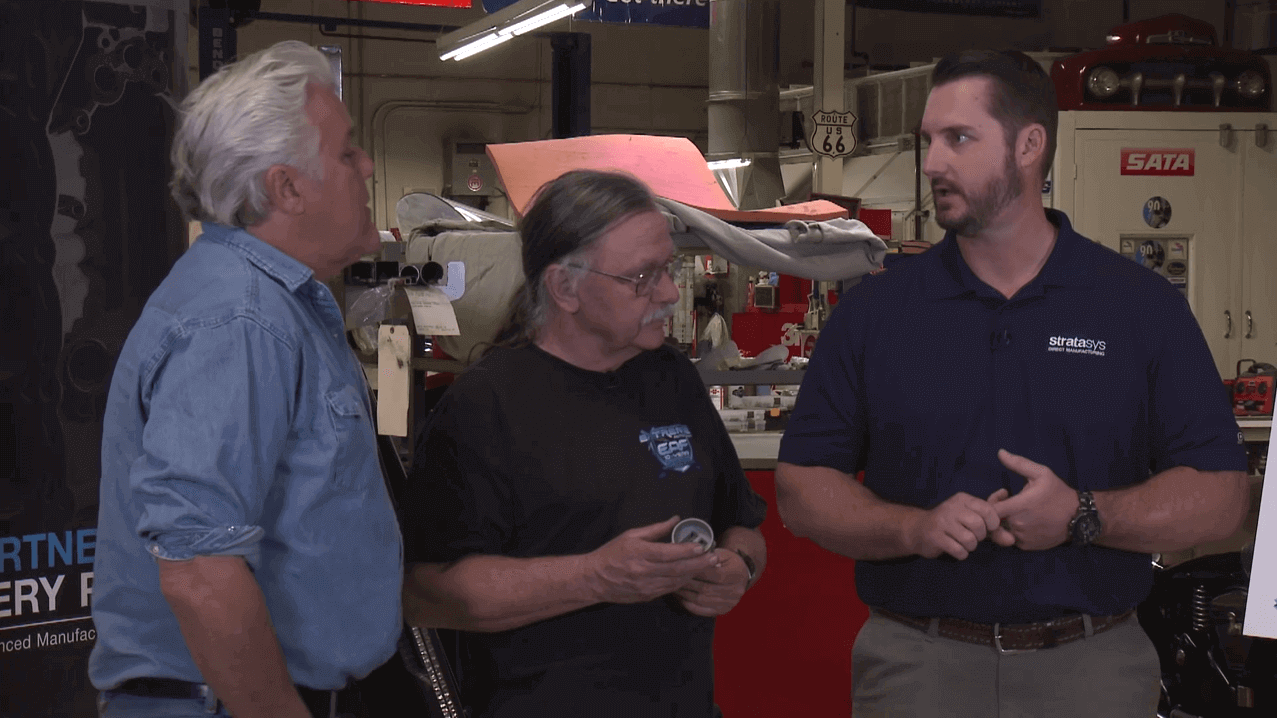 Jay Leno Invites Stratasys Direct Manufacturing Into His Garage | All3DP