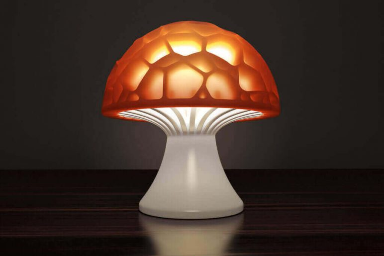 Image of 3D Printing Ideas – 40 Easy Home Decor Things to 3D Print: Voronoi Mushroom Lamp