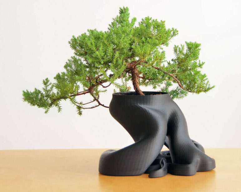 Image of 3D Printing Ideas – 40 Easy Home Decor Things to 3D Print: Bonsai Planter