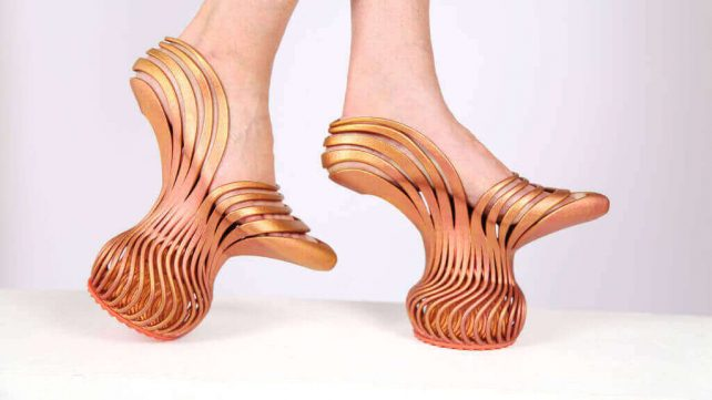 Featured image of These Spring Heel Shoes Can Only Be Made with 3D Printing