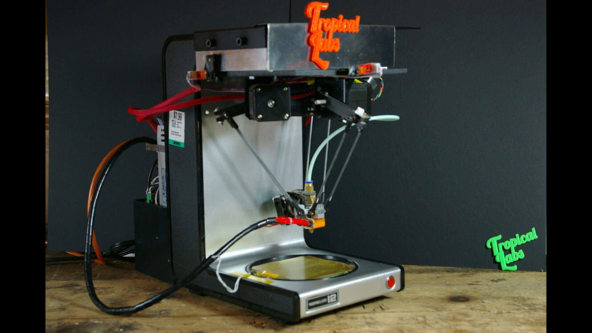 Coffee Maker Transformed into a Delta 3D Printer | All3DP