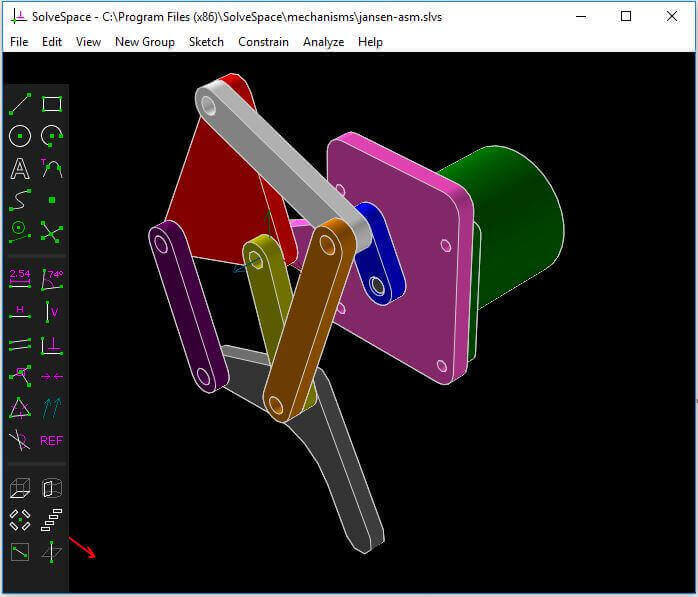 Image of Alternativas gratuitas a SolidWorks: SolveSpace