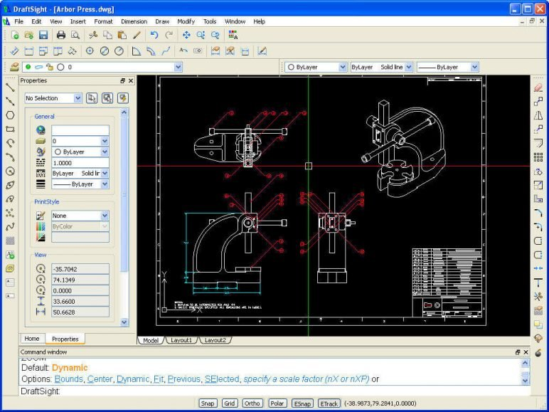 Image of Best Free CAD Software (2D/3D CAD Programs): DraftSight