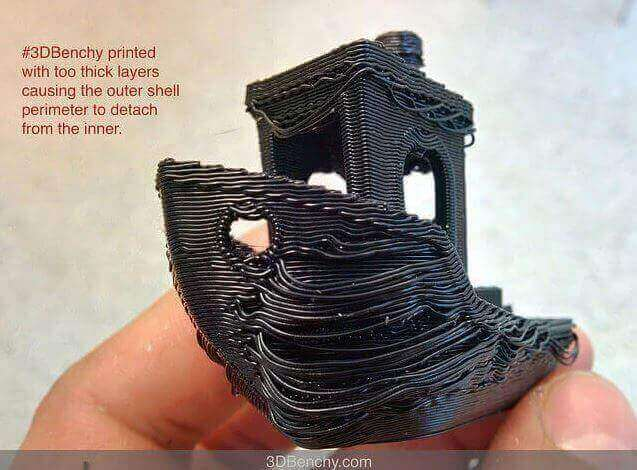 Image of 3D Printing Troubleshooting Common 3D Printing Problems: Print Looks Stringy and Droopy (Over-Extrusion)
