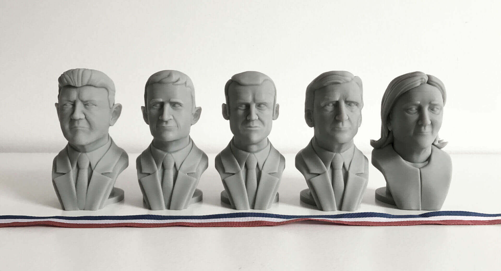 Cults3D Brings the Upcoming French Election to Your 3D Printer | All3DP