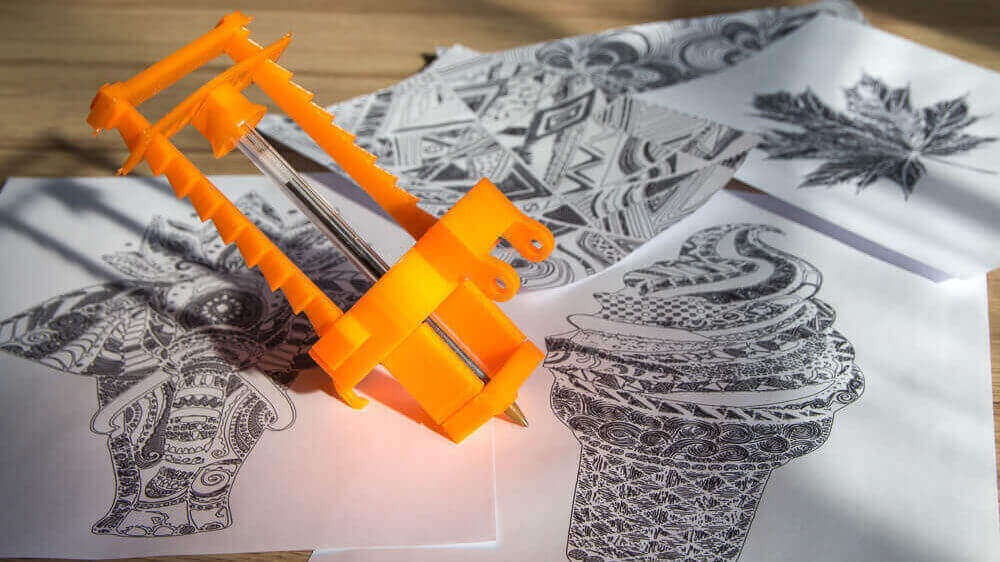 ZMorph 3D Printer Learns To Draw Jazzy Images with Free DIY Pen Toolhead | All3DP