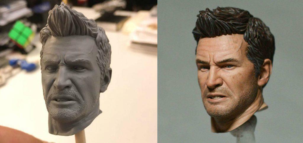 PlayStation 3D printed Nathan Drake face