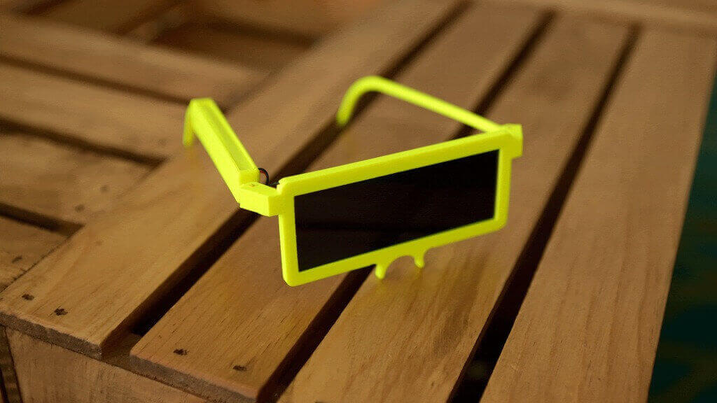 Retrotastic 3D Printed Electronic Sunglasses from Adafruit   All3DP