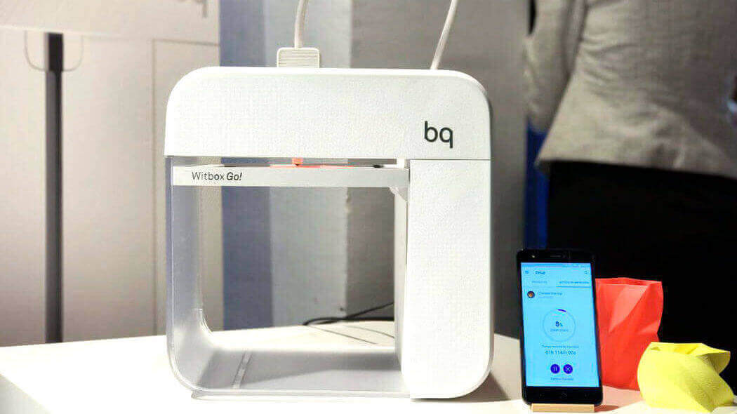 BQ Unveils World's First Android-Powered 3D Printer, Witbox Go! | All3DP
