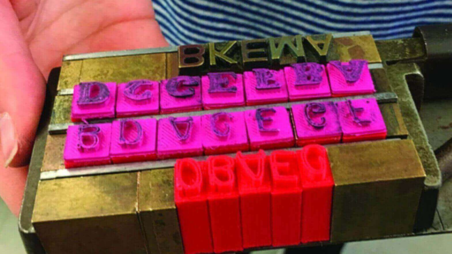 Students Use 3D Printing to Develop 19th Century Printing Press Type | All3DP