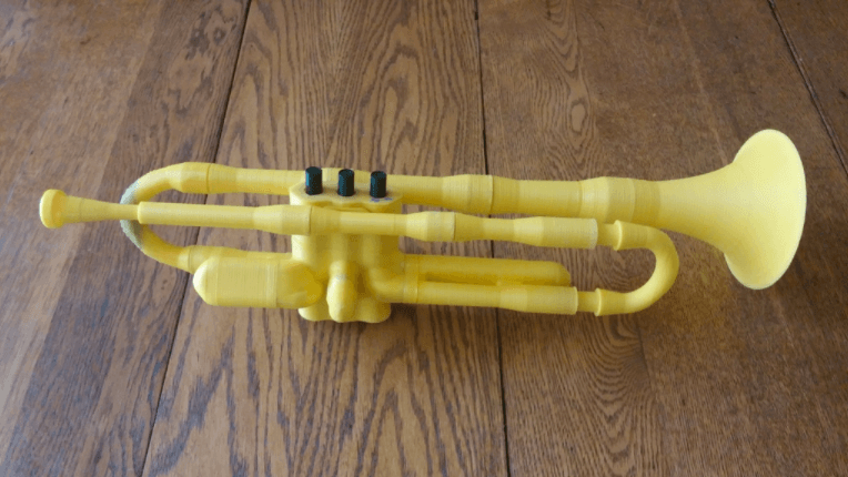 Image of Homemade Instruments to DIY or 3D Print: Printable Trumpet