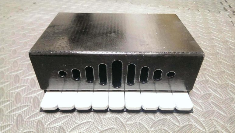 Image of Homemade Instruments to DIY or 3D Print: Slit Drum Keyboard