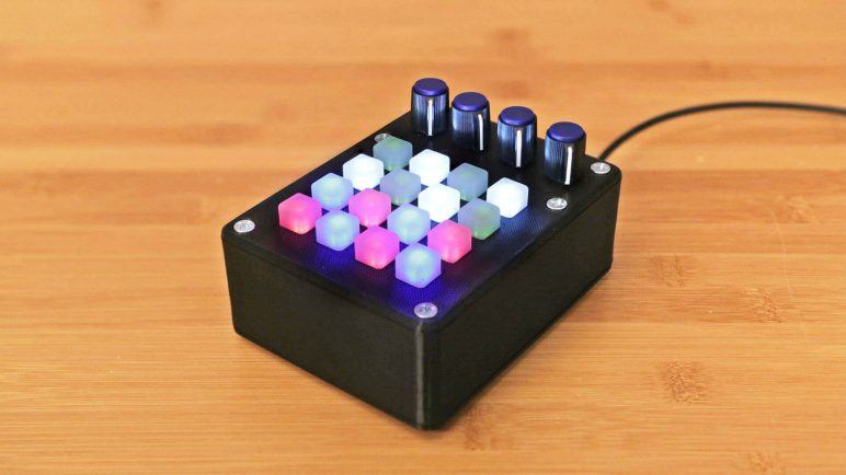 Image of Homemade Instruments to DIY or 3D Print: Mini UNTZtrument: 3D Printed MIDI Controller