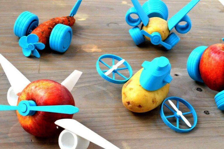 Image of 30 Interesting 3D Printing Projects: Veggie Toys